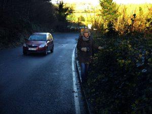 Absence of road sense