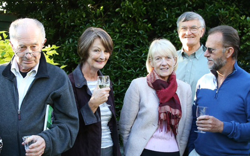 At the launch of Rye News: Charles Harkness, Jane Taylor, KT Bruce, Kenneth Bird and Tony Nunn