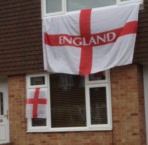 Steve, Sam and Adam showing there support for England