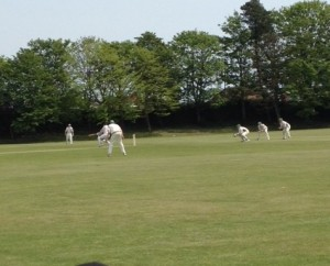 Rye's batsman in action.