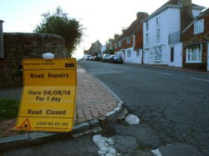 Road repairs farce