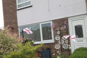 Elizabeth and Poppy showing there support for England