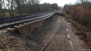 A section of the line between Hastings and London was closed back in February due to landslips caused by bad weather.