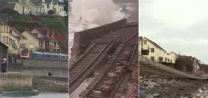 Dawlish before and after the exceptionally heavy rain.