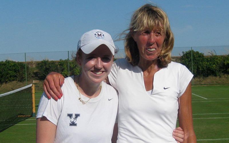 Annie Sullivan and club legend Frances Candy won the ladies doubles final after a close match