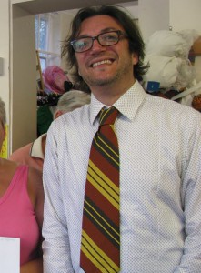 Suitably attired: Rye's deputy mayor was dressed by the charity shop