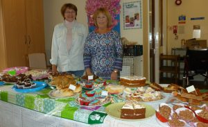 At Magdala House ARRCC's Pat Goddard and Jenny Vincent offered an amazing array of goodies