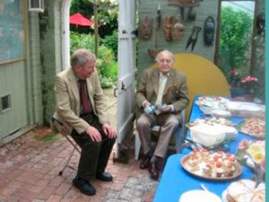 Sinden and John Griffiths - enjoying a fine spread put on by Rae Festing in High Street, Rye / Photo: Rye Conservation Society