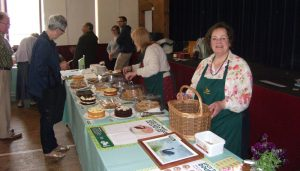 The community centre's Friday market one-off cake and coffee stall