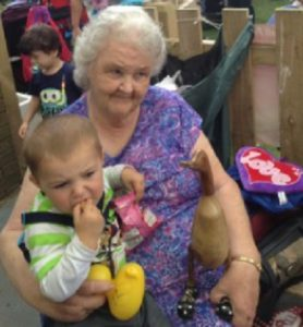 Winner: Janet Wood with her prize duck