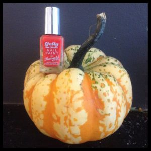 Little Gourd: £3.50 for 2 approx at Johnson's Fruiterers. Barry M 'Satsuma' Nail Polish £3.99 Boots. Both High St. Rye