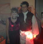 Theresa and Ben dressed up as Mrs Lovett and Sweeney Todd