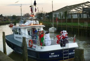 Christmas sails into Strand Quay