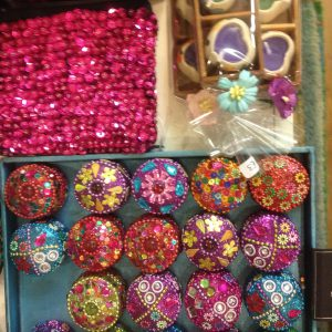 Trinket Boxes, Sequinned Purse and tiny heart candles, from £3, Byzantuim