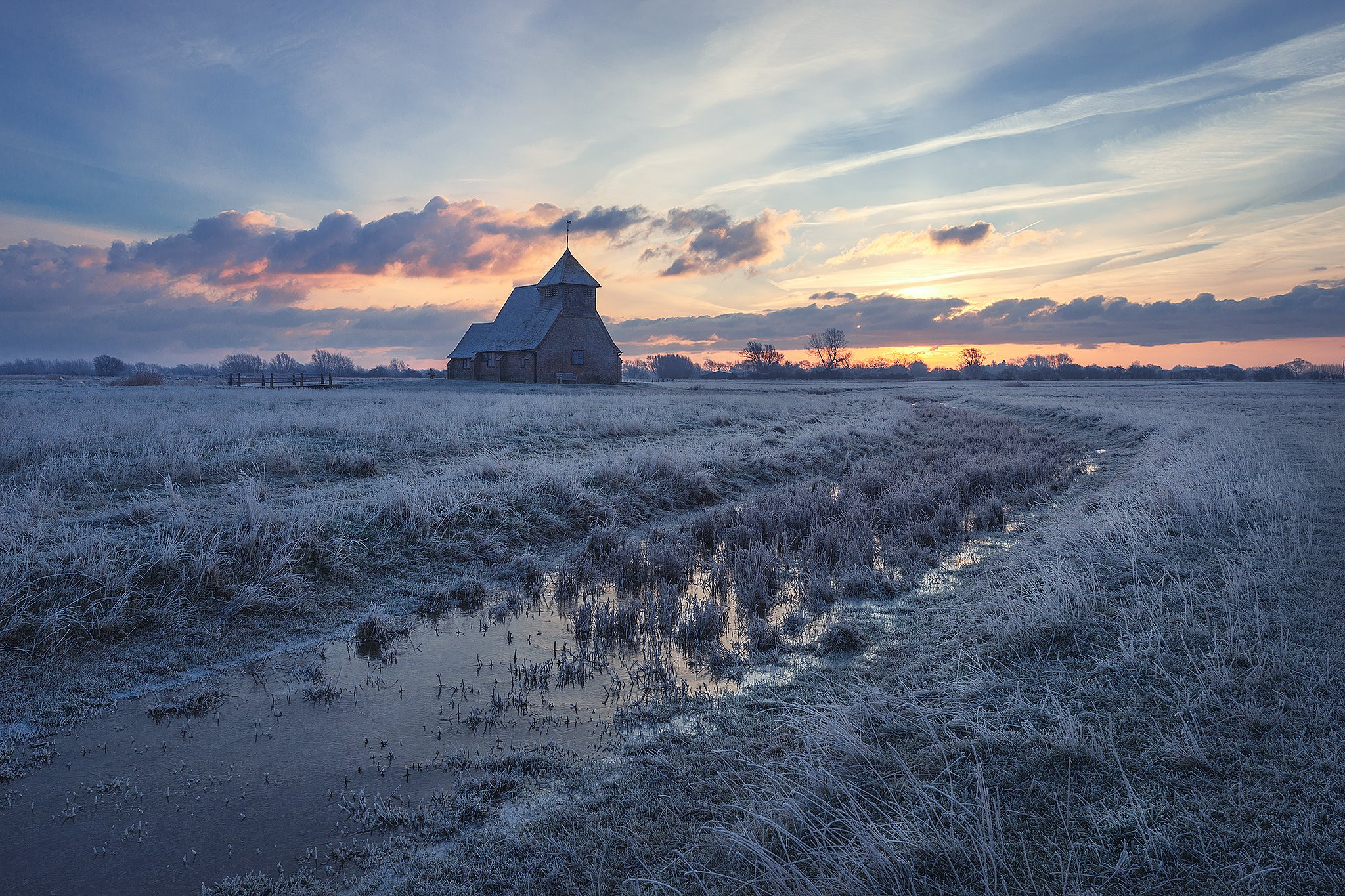 'Fairfield Frost' - the church of St Thomas à Becket in Romney Marsh
