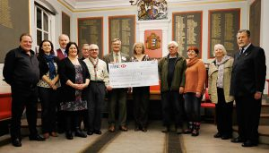 Charities cheque-in at town hall