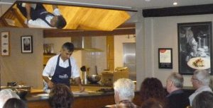 Paul Webbe shows how to remove the excess scallop with precision