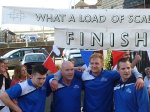 """The winners of this year's """"What a load of scallops"""" award is - the team from Rye Harbour Health Club."""