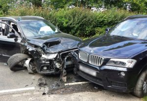 The crash scene at Peasmarsh last year
