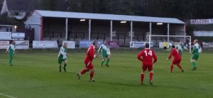 Stuart Adams controls the ball