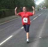Sarah Curd on the run