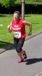 Gurney crosses the finish