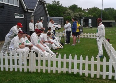 Rye's cricketers relaxing before the home game against stirlands