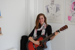 Holly Holt, Rye College student, entertaining the guests