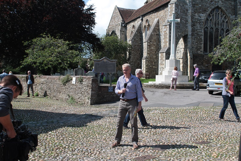 Rob Smith in front of St Mary's Church