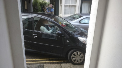 Nick Taylor opens his front door to find a car mounting the pavement - and sometimes it can be simply impossible to leave the house.