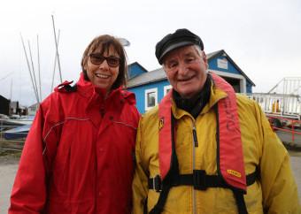 Commodore Caroline Wylson and club president Carey Marsh