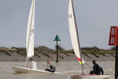 The junior sailors were highly competitive
