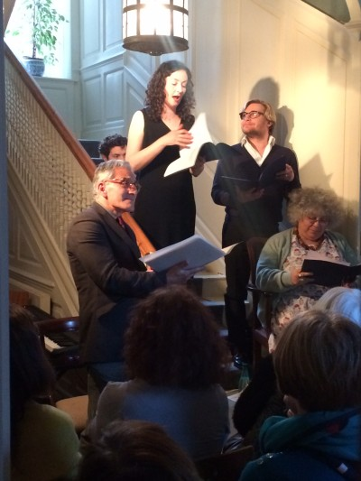 Celebrating Henry James - l to r Henry Goodman, Andy Rush, Carrie Quinlan, Jonathan Broadbent, Miriam Margolyes