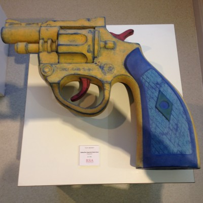 Detective Special Hand Gun - ceramic by Tony Bennett