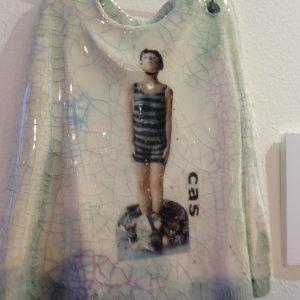 T-shirt4 - raku, by Carol Sheldrake