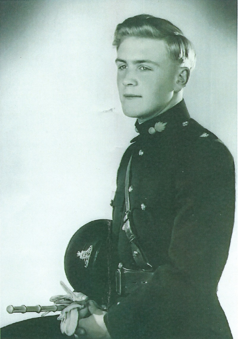 John Izod as a young soldier