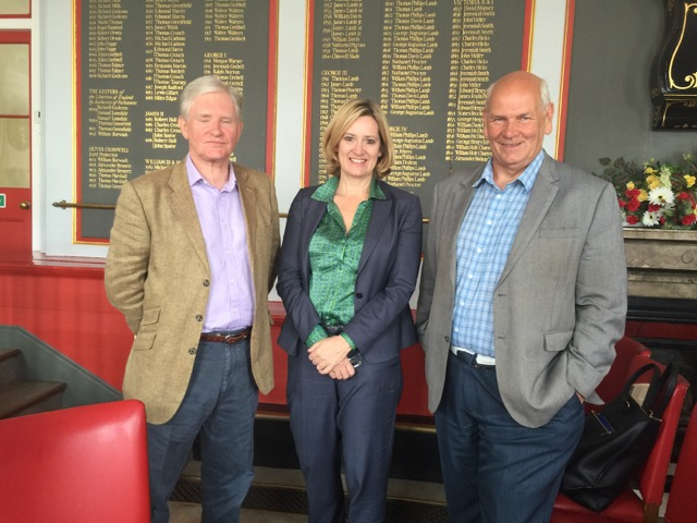 L to R: Lord Ampthill, Amber Rudd, Keith Glazier