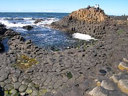 Giant Causeway, a popular tourist attraction
