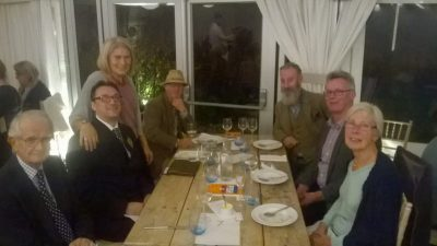 Lovely company with Mayor Jonathan Breeds deputy Mayor Mike Boyd, Mrs & Mr Seymour, Tony Howard and Derek Brown