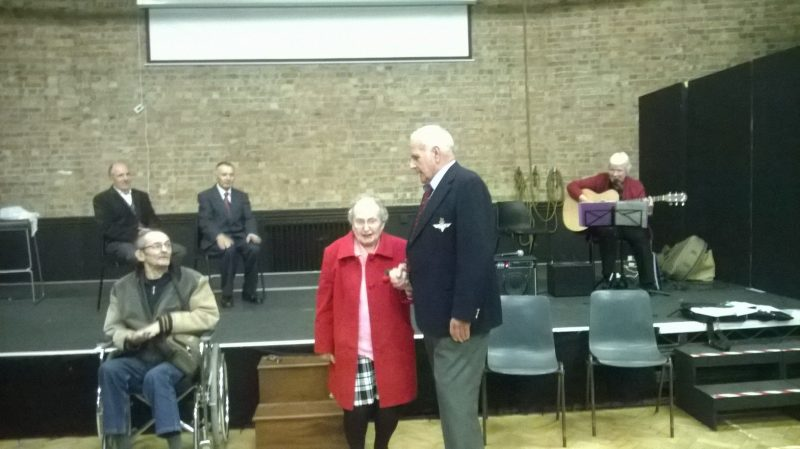 Individual performance by members of the dementia singing group