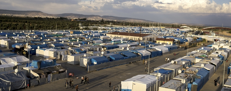 One of the refugee camps - the scale of the problem is immense
