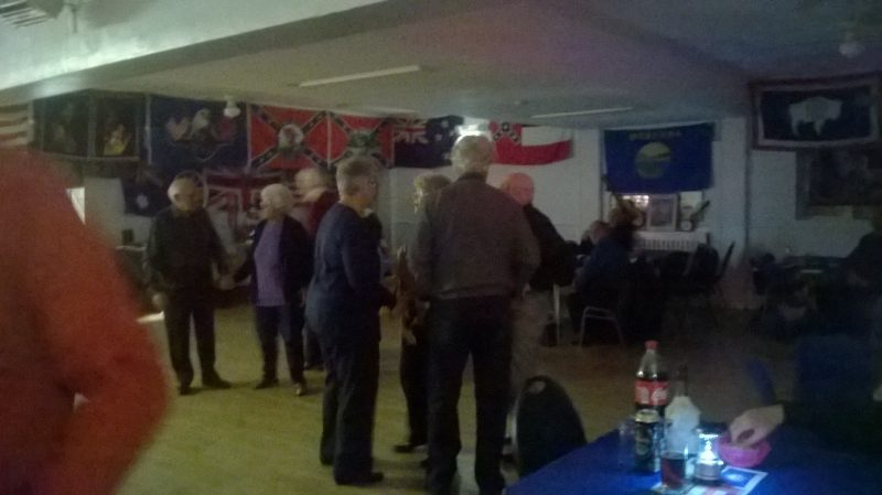 Camber hall dressed up for Country and Western dancing