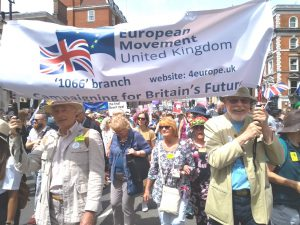 Euro march to Westminster