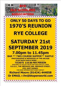 Old scholars 1970's reunion - Rye News