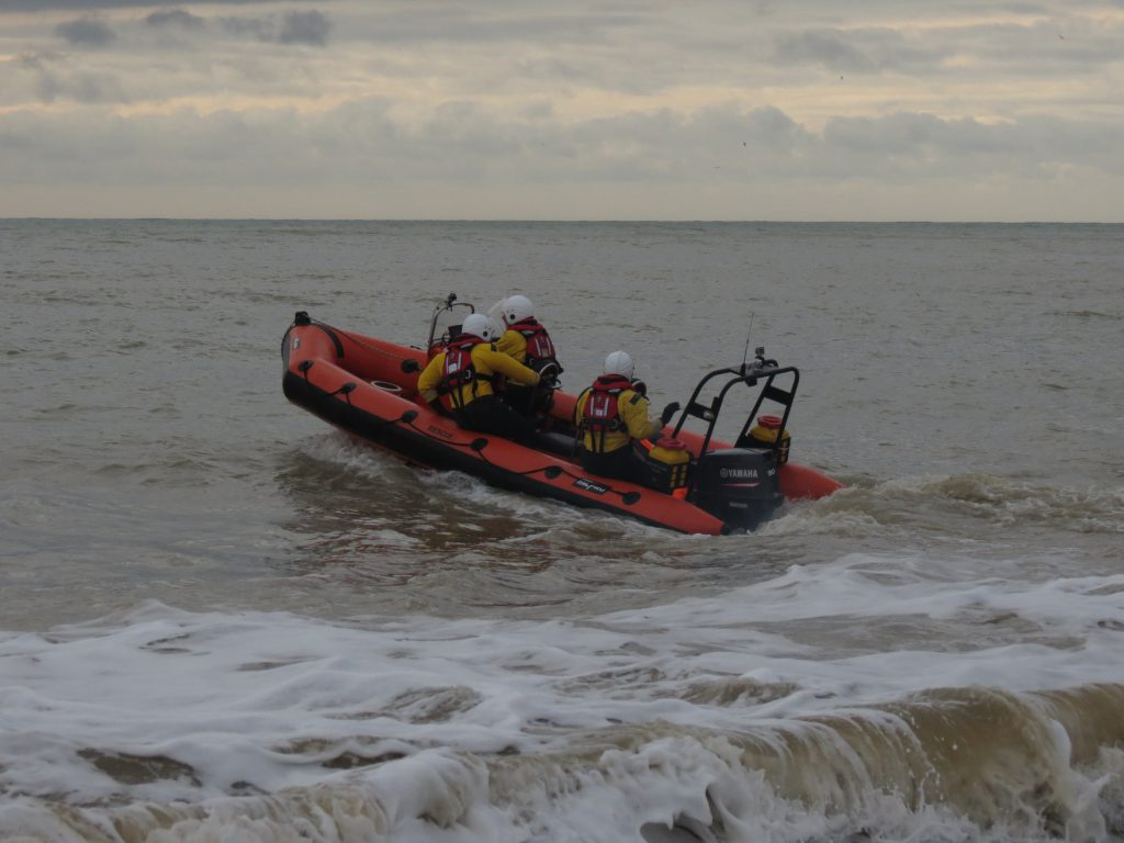 Pett Level Independent Rescue Boat, Sunday training